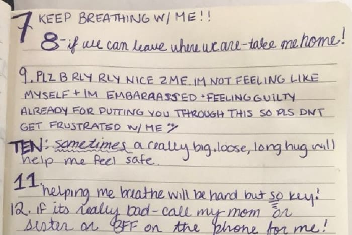 This woman's list of advice for her boyfriend about her condition