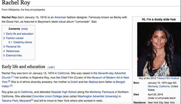 These Celebrities Had Their Wikipedia Pages Vandalized And It Was Hilarious Social Gazette